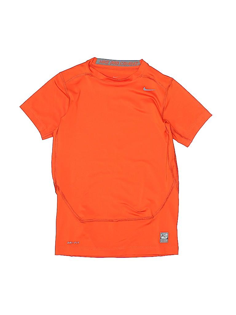 nike solid orange active t shirt size l kids 65 off thredup
