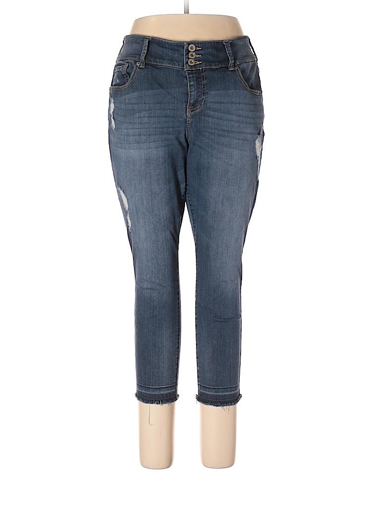 bce9f7bbcb2 Torrid 100% Cotton Solid Blue Jeans Size 3X Plus (3) (Plus) - 70 ...