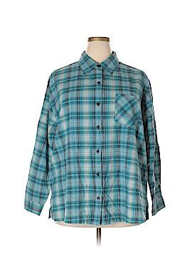 Fashion Bug Long Sleeve Button-Down Shirt Size 26 - 28 (Plus)