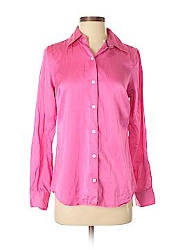 Isaac Mizrahi Long Sleeve Silk Top Size S
