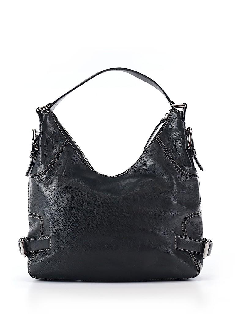 MICHAEL Michael Kors 100% Leather Solid Black Leather Shoulder Bag ... 66ade14d5ca18