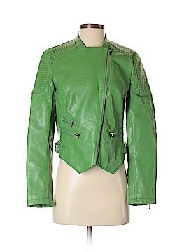 Zara Basic Faux Leather Jacket Size S