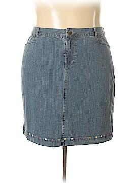 Cj Banks Denim Skirt Size 20 (Plus)