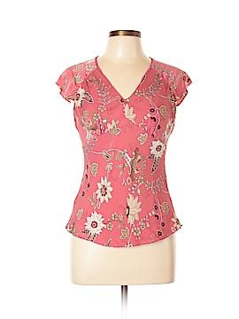 Ann Taylor Short Sleeve Silk Top Size 10 (Petite)