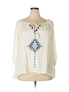 Karen Kane 3/4 Sleeve Blouse Size XL
