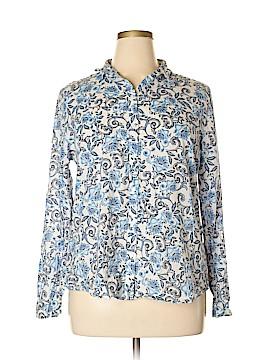 Ann Taylor LOFT Outlet Long Sleeve Button-Down Shirt Size XL