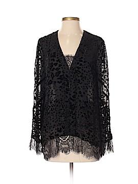 Hale Bob Long Sleeve Silk Top Size S
