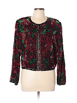 Lawrence Kazar Silk Blazer Size XL