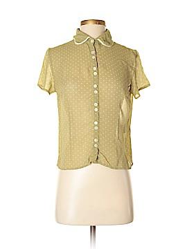 Boden Short Sleeve Silk Top Size 12