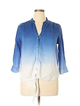 INC International Concepts Long Sleeve Blouse Size 12