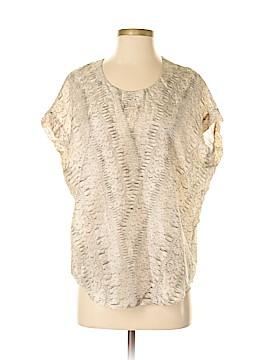 CAbi Short Sleeve Silk Top Size XS