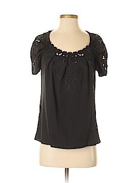 Elie Tahari for 5F Bergdorf Goodman Short Sleeve Silk Top Size XS
