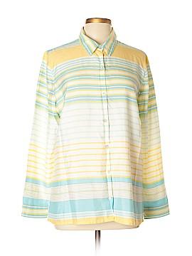 J.jill Long Sleeve Silk Top Size L