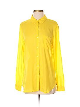 Workshop Long Sleeve Button-Down Shirt Size M