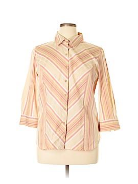 Apostrophe 3/4 Sleeve Button-Down Shirt Size XL