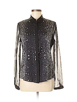 Elie Tahari for 5F Bergdorf Goodman Long Sleeve Silk Top Size S