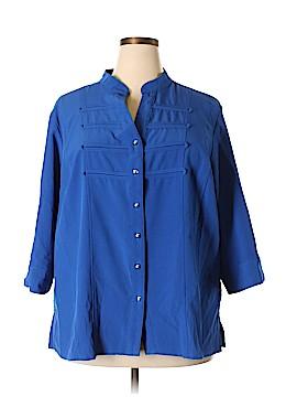 Kathy Che 3/4 Sleeve Button-Down Shirt Size 22 - 24 (Plus)
