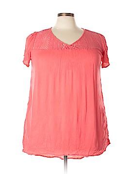 Mileage Short Sleeve Blouse Size 1X (Plus)
