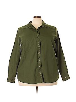 Cherokee Long Sleeve Button-Down Shirt Size 24w (Plus)