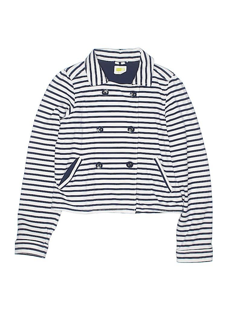 56afc82d9 Crazy 8 100% Cotton Stripes Dark Blue Jacket Size 14 - 66% off