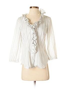 Sunny Leigh 3/4 Sleeve Button-Down Shirt Size S