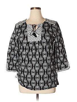 Anne Klein 3/4 Sleeve Blouse Size L