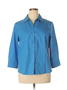 Jones New York 3/4 Sleeve Button-Down Shirt Size XL