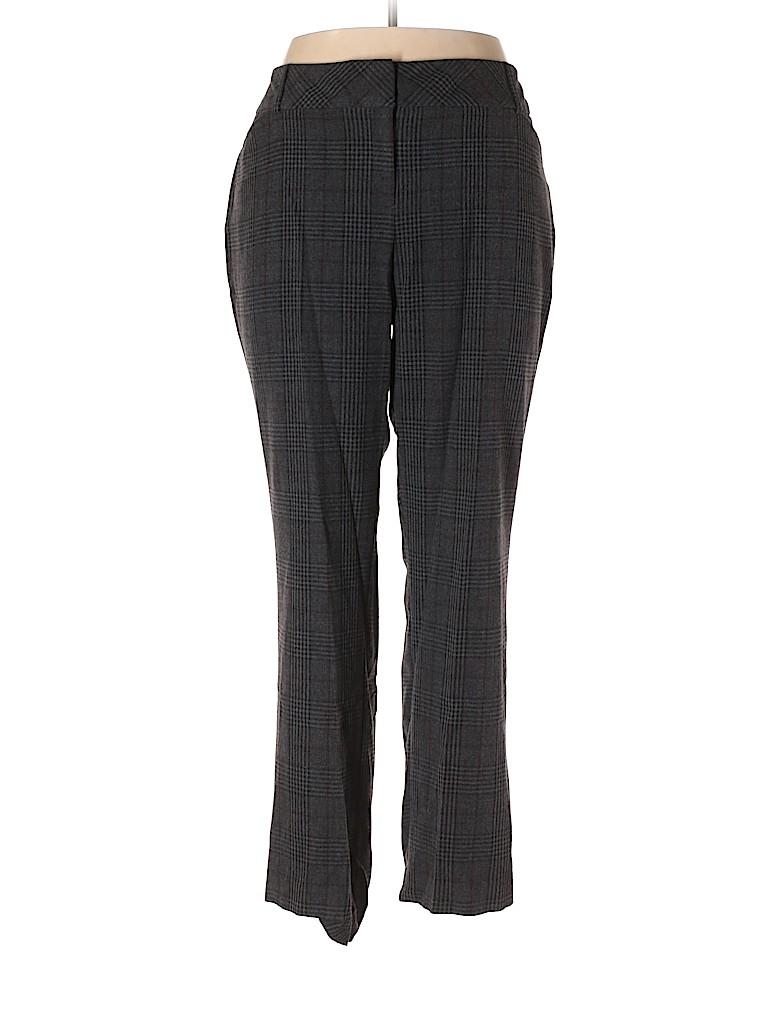 f51ddb7c6a9 Roz   Ali Plaid Gray Dress Pants Size 18 (Plus) - 97% off