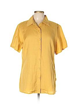 Ashley Stewart Short Sleeve Button-Down Shirt Size 12