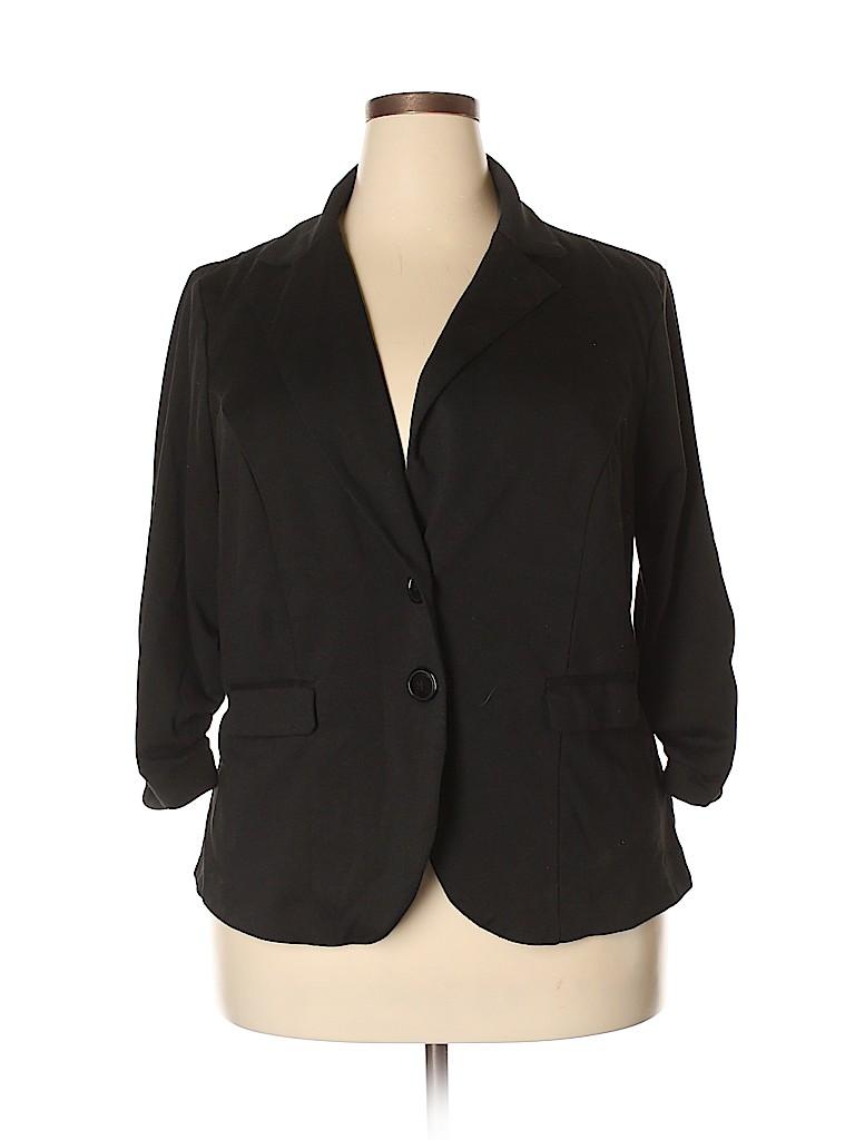 976d94c6b17 Torrid Solid Black Blazer Size 2X Plus (2) (Plus) - 74% off