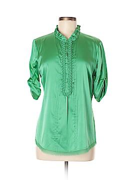 Elie Tahari Short Sleeve Silk Top Size M