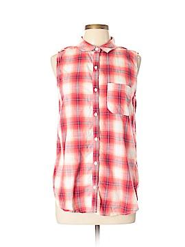 ABound Sleeveless Button-Down Shirt Size L