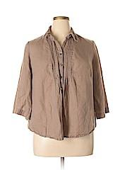 Croft & Barrow Women 3/4 Sleeve Button-Down Shirt Size 1X (Plus)