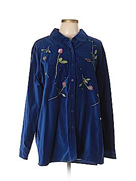 The Quacker Factory Long Sleeve Button-Down Shirt Size XL