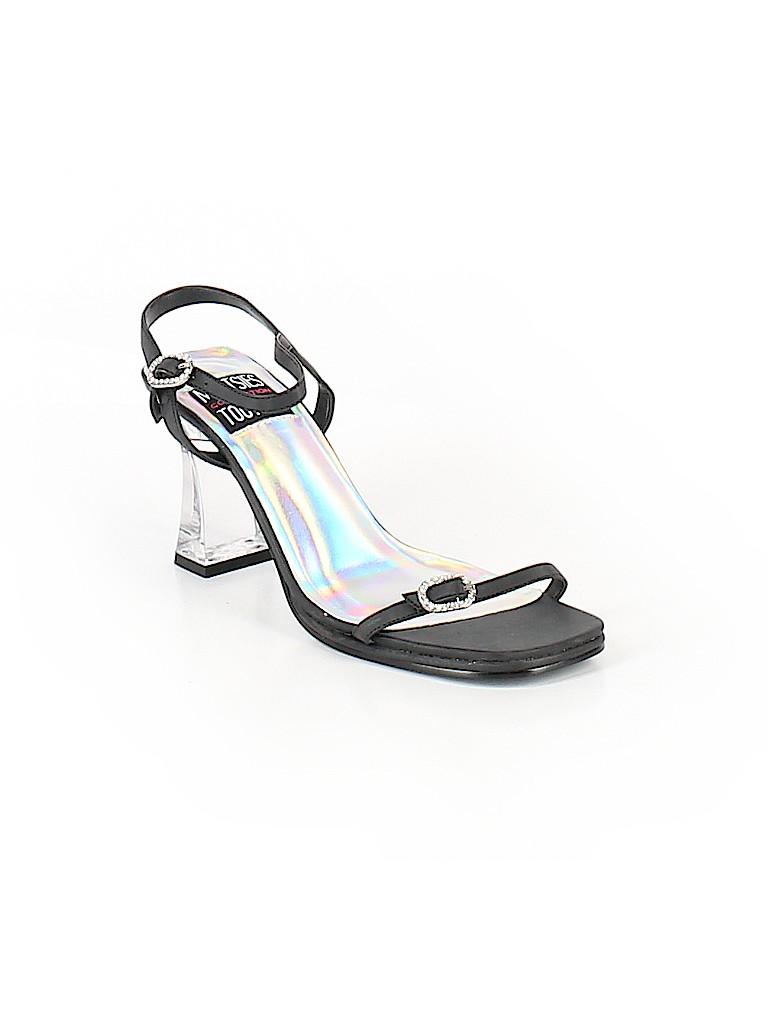 1b94653a1859b Mootsies Tootsies Solid Black Sandals Size 7 1 2 - 55% off