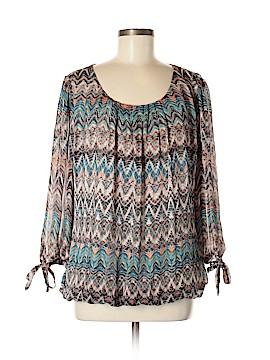 Roz & Ali 3/4 Sleeve Blouse Size XL