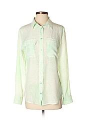 Equipment Women Long Sleeve Silk Top Size S (Petite)