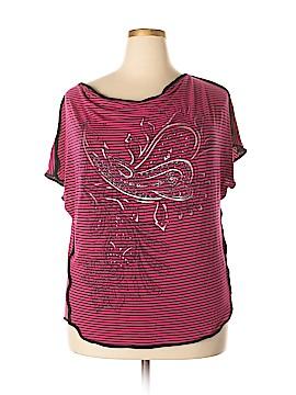 B.l.e.u. Short Sleeve Top Size 1X (Plus)