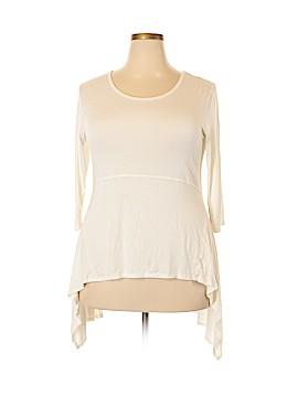 Cha Cha Vente 3/4 Sleeve T-Shirt Size 1X (Plus)