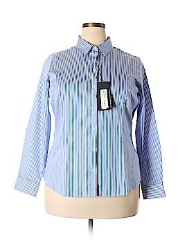 M&S Long Sleeve Button-Down Shirt Size 20 (Plus)