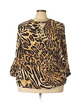 Ashley Stewart Long Sleeve Blouse Size 18 (Plus)