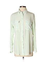 Equipment Women Long Sleeve Silk Top Size XS