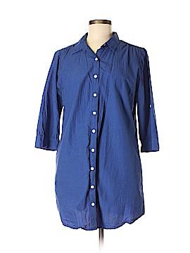 Sunhee Moon 3/4 Sleeve Button-Down Shirt Size 3