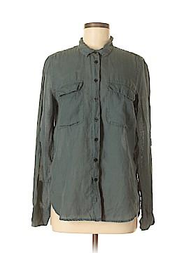CALVIN KLEIN JEANS 3/4 Sleeve Button-Down Shirt Size M