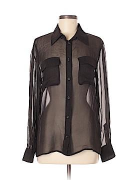 Escada Elements Long Sleeve Silk Top Size 38 (EU)