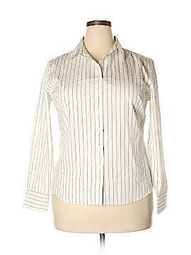 Lands' End Long Sleeve Button-Down Shirt Size 16 (Petite)