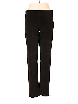 Ecru Leather Pants Size 10