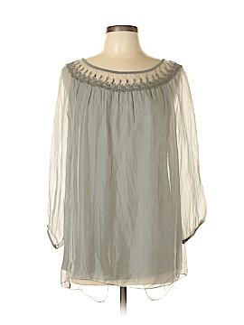 Carla Conti 3/4 Sleeve Silk Top Size L