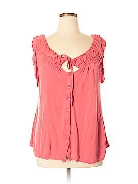 LC Lauren Conrad Sleeveless Button-Down Shirt Size XL