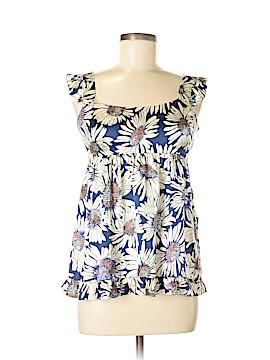 Hanna G. Short Sleeve Silk Top Size M